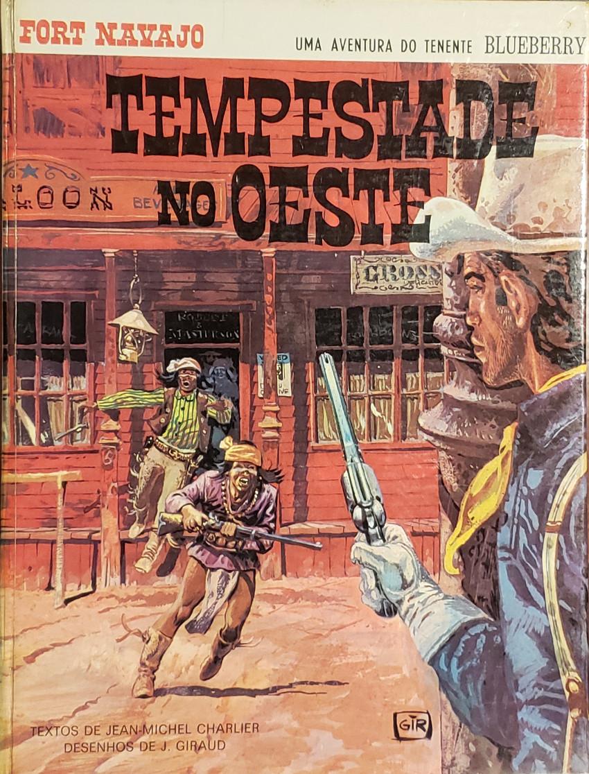 Couverture de Blueberry (en portugais) (Uma aventura do Tenente) -2- Tempestade no Oeste