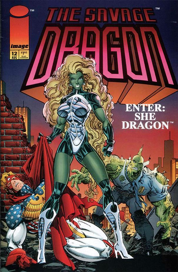 Couverture de Savage Dragon Vol.2 (The) (Image comics - 1993) -12- Enter: She Dragon