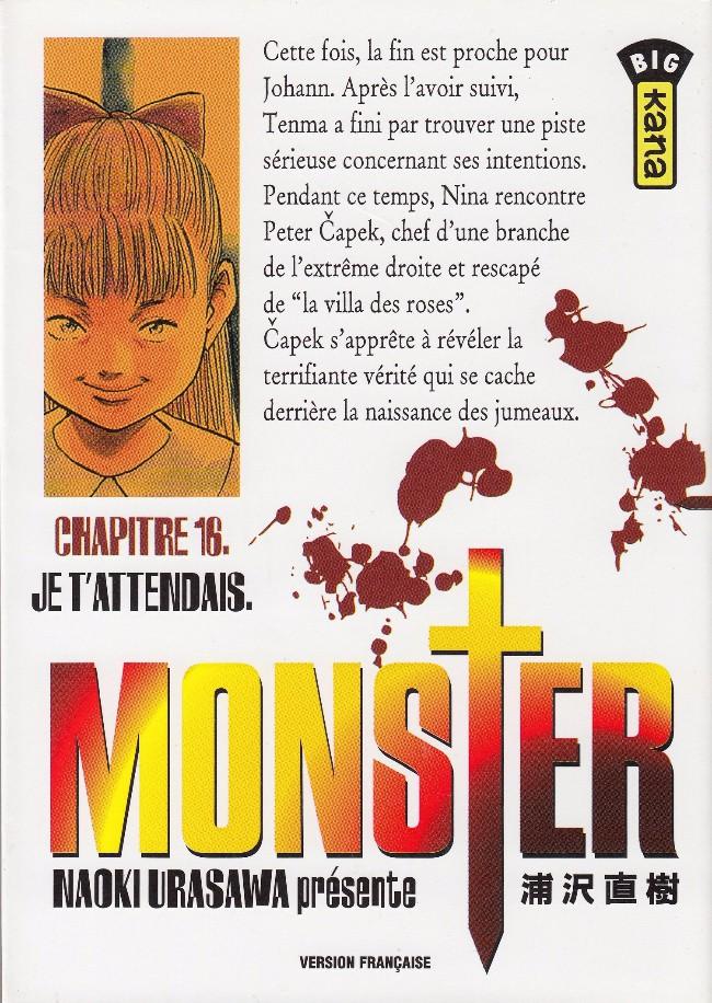 Couverture de Monster (Urasawa) -16- Je t'attendais