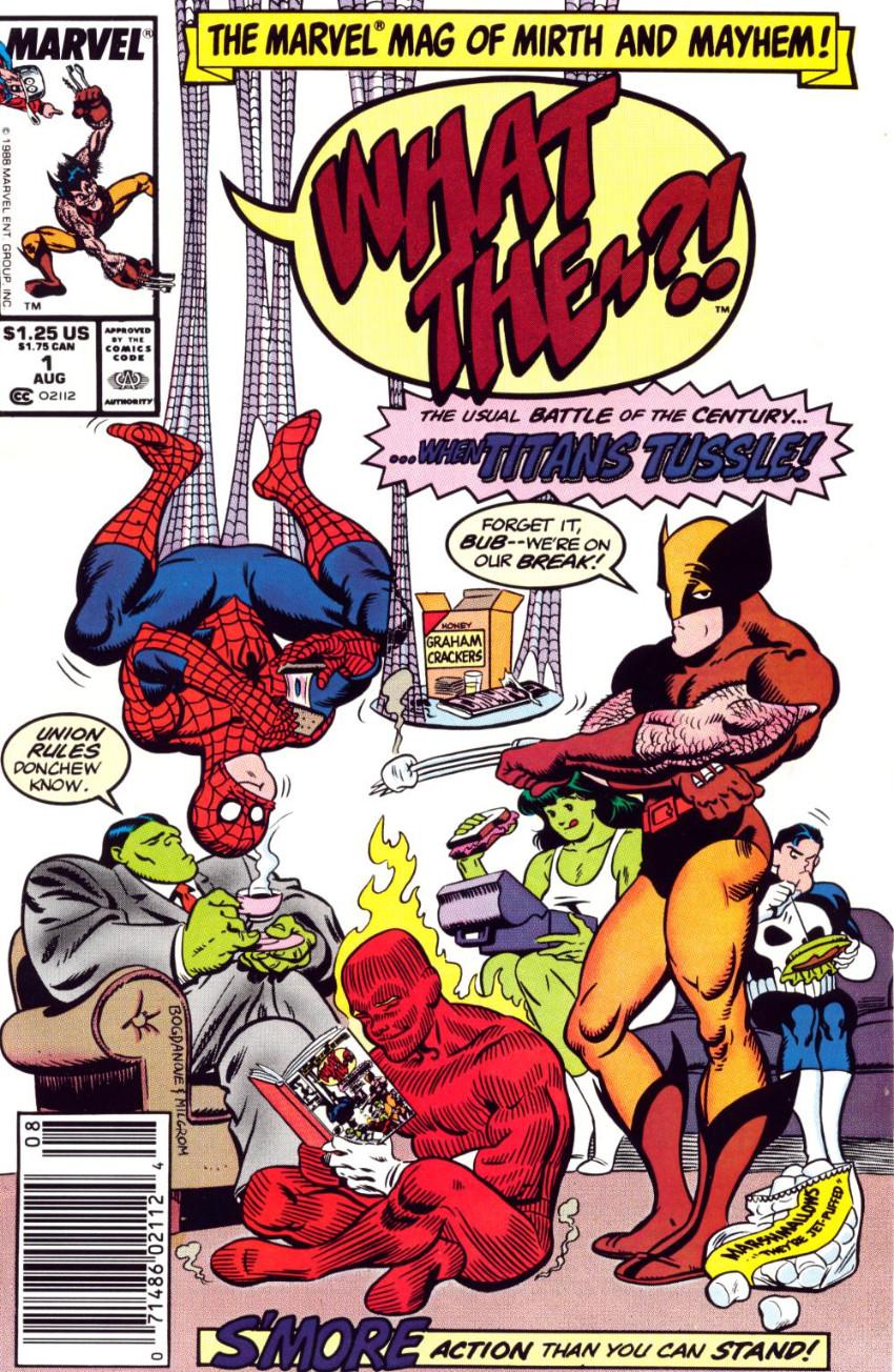 Couverture de What the..?! (Marvel comics - 1988) -1- ...When Titans Tussle!