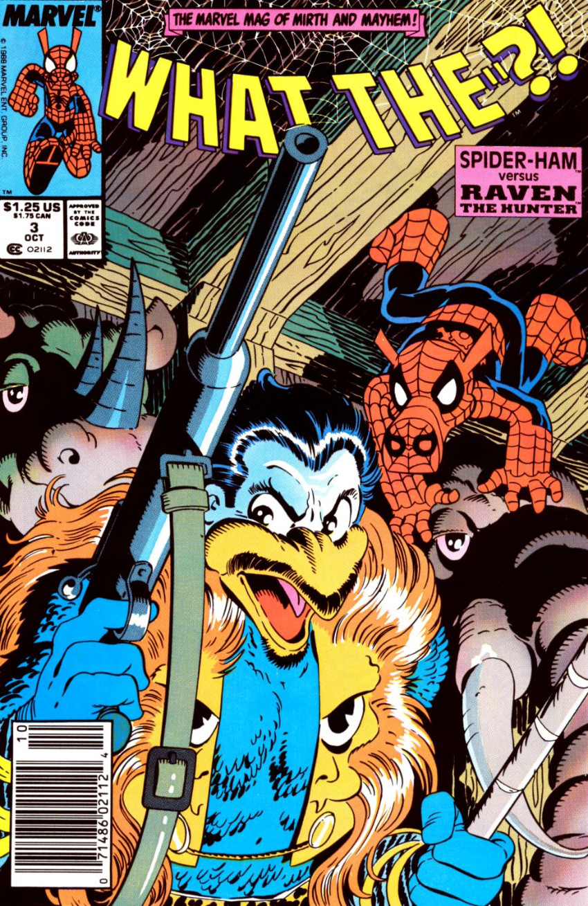 Couverture de What the..?! (Marvel comics - 1988) -3- Spider-Ham Versus Raven the Hunter
