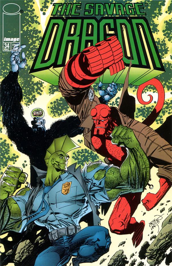 Couverture de Savage Dragon Vol.2 (The) (Image comics - 1993) -34- Issue #34