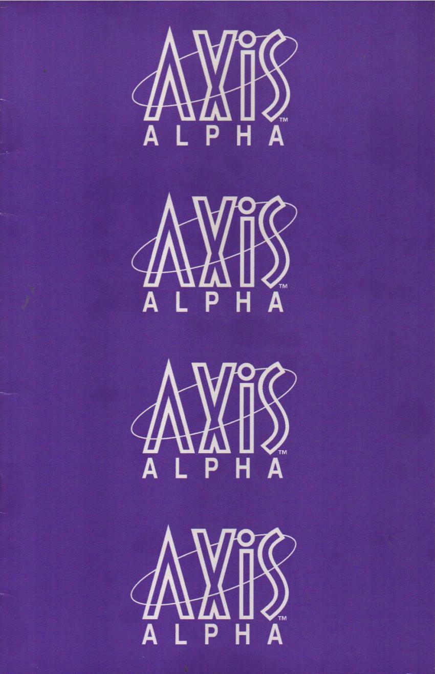 Couverture de Axis Alpha (1994) -1- Axis Alpha 1