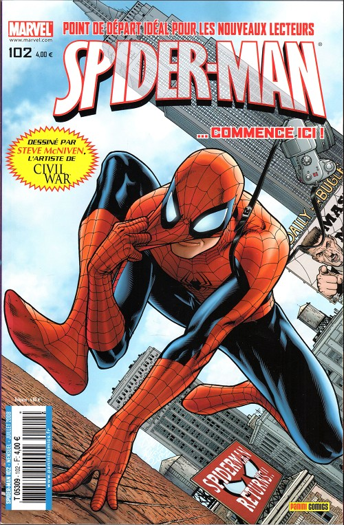 Couverture de Spider-Man (Marvel France 2e série - 2000) -102- Un jour nouveau