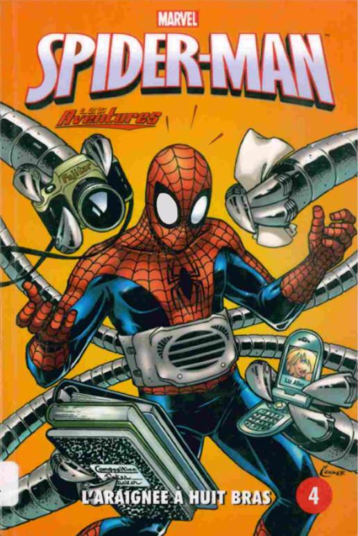 Couverture de Spider-Man - Les aventures (Presses Aventure) -4- L'araignée à huit bras
