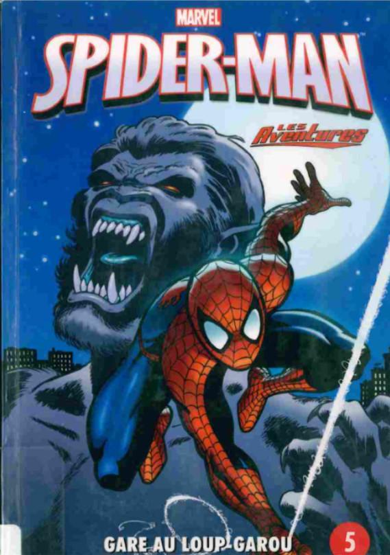 Couverture de Spider-Man - Les aventures (Presses Aventure) -5- Gare au loup-garou