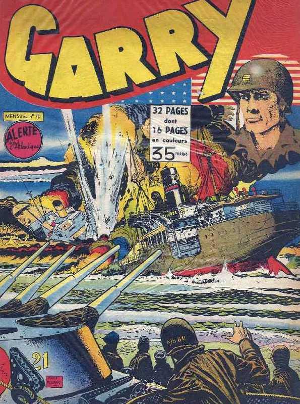 Couverture de Garry (sergent) (Imperia) (1re série grand format - 1 à 189) -70- Alerte sur l'Atlantique