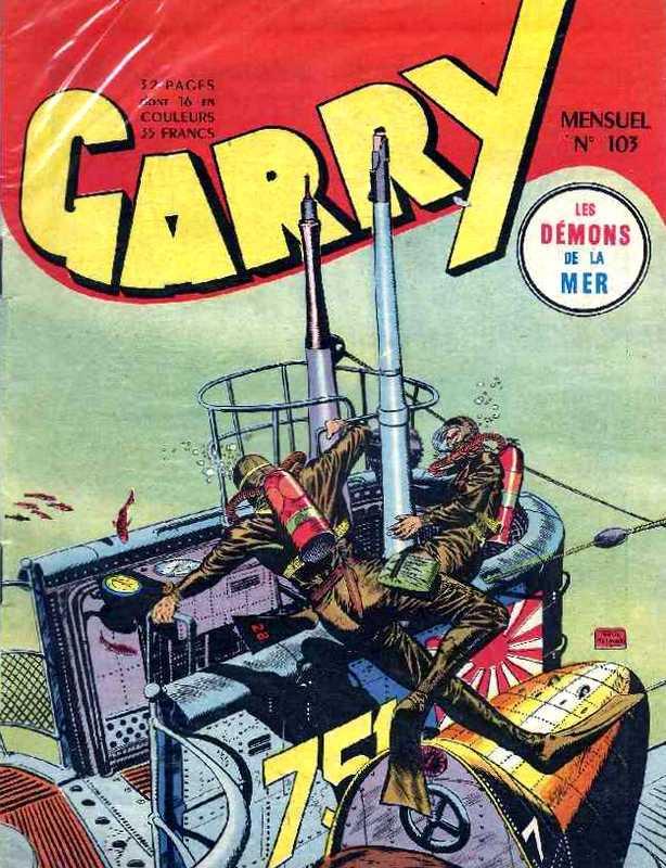 Couverture de Garry (sergent) (Imperia) (1re série grand format - 1 à 189) -103- Les démons de la mer