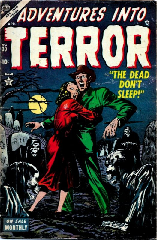 Couverture de Adventures into Terror Vol.2 (Atlas - 1951) -30- The Dead Don't Sleep!