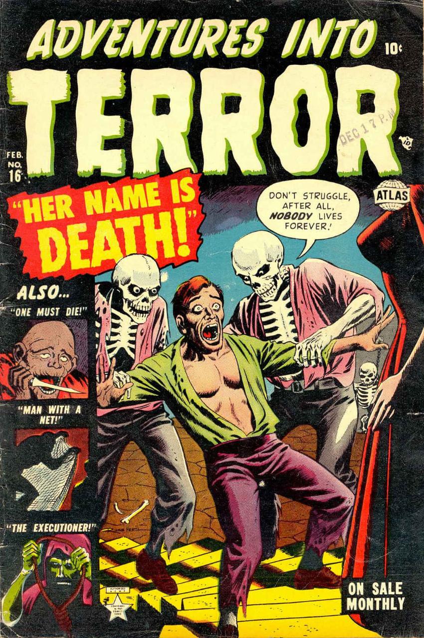 Couverture de Adventures into Terror Vol.2 (Atlas - 1951) -16- Her Name Is Death!