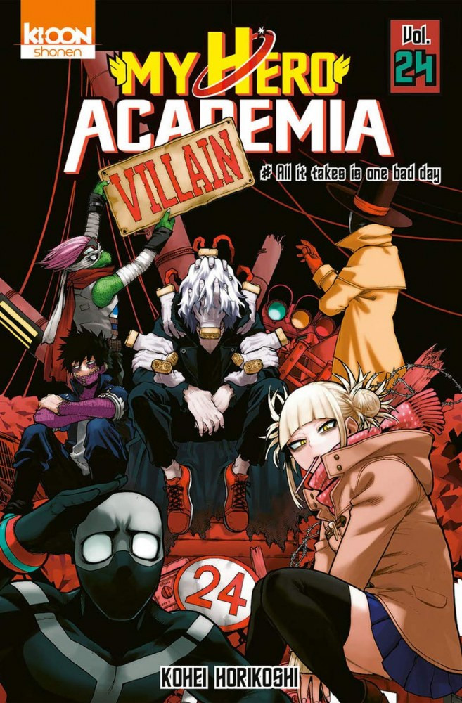 Couverture de My Hero Academia -24- All it takes is one bad day