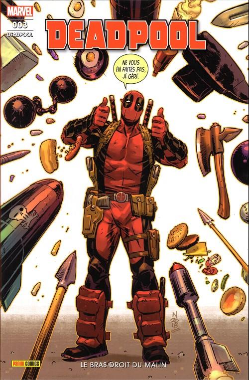 Couverture de Deadpool (Marvel France 7e série - 2020)  -3- Le bras droit du malin
