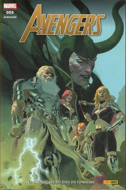 Couverture de Avengers (Marvel France - 2020) -5- Le crépuscule du dieu du tonnerre