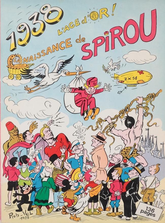 Couverture de Spirou et Fantasio -2- (Divers) -3Deli- La Naissance de spirou