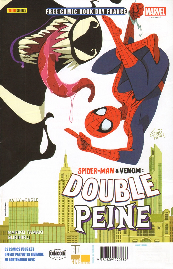 Couverture de Free Comic Book Day 2020 (France) - Spider-Man & Venom : double peine