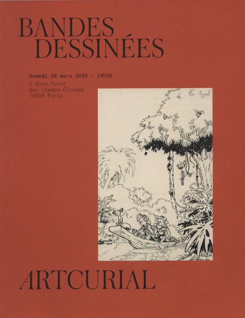 Couverture de (Catalogues) Ventes aux enchères - Artcurial - Artcurial - Bandes dessinées - 28 mars 2020