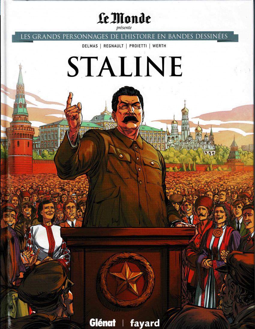 Couverture de Les grands Personnages de l'Histoire en bandes dessinées -37- Staline