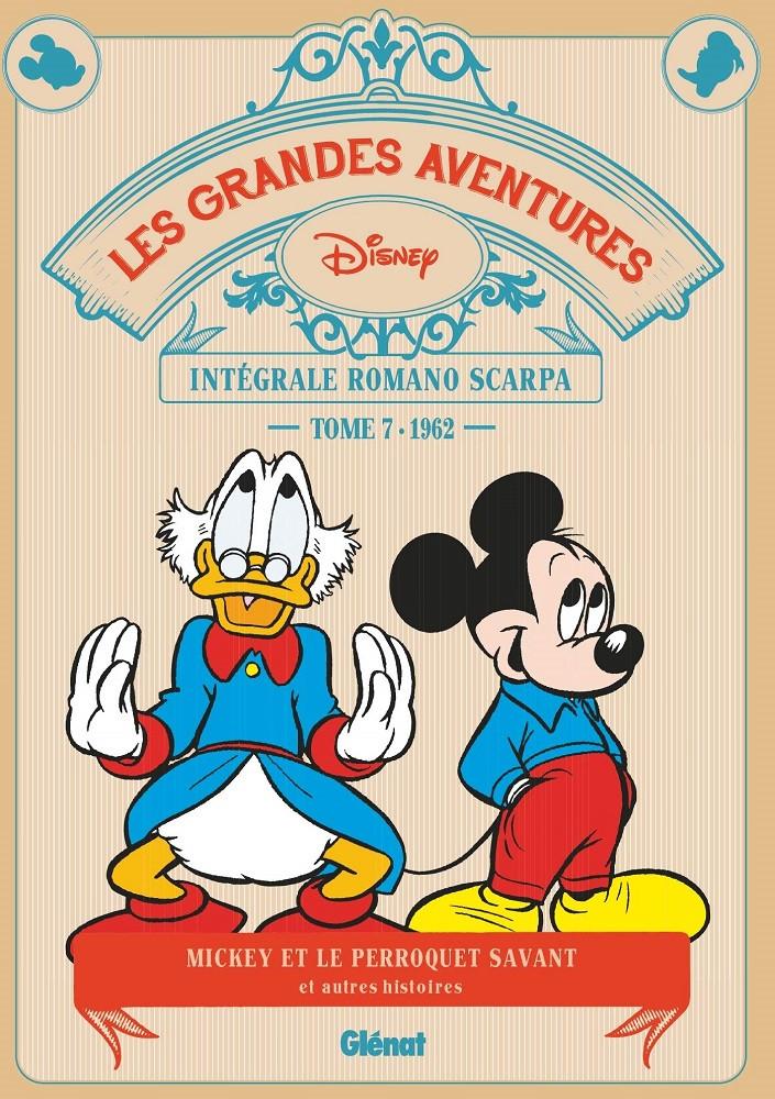 Couverture de Les grandes aventures Disney de Romano Scarpa -7- Le Perroquet savant et autres histoires (1962)