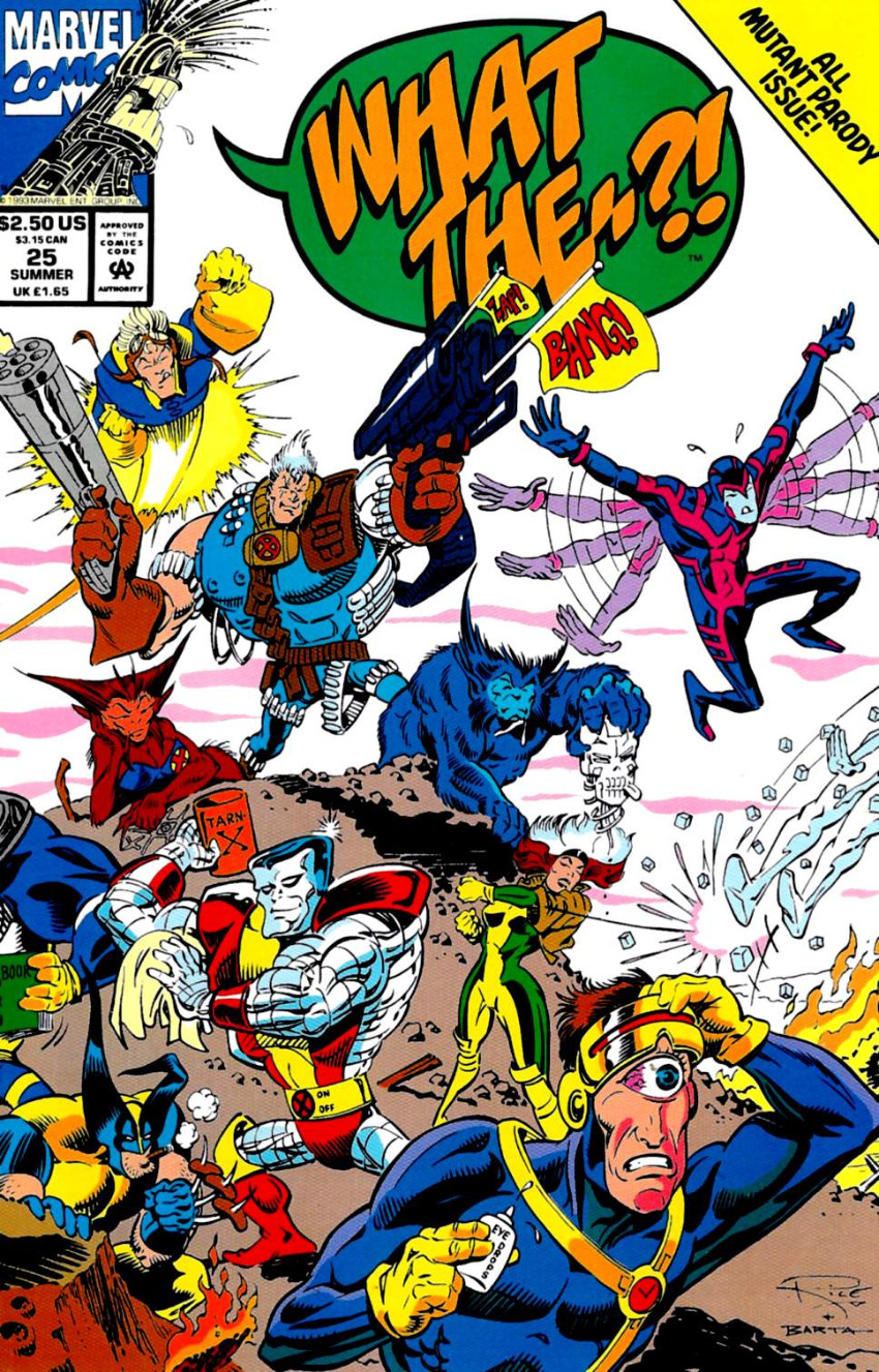 Couverture de What the..?! (Marvel comics - 1988) -25- All Mutant Parody Issue!
