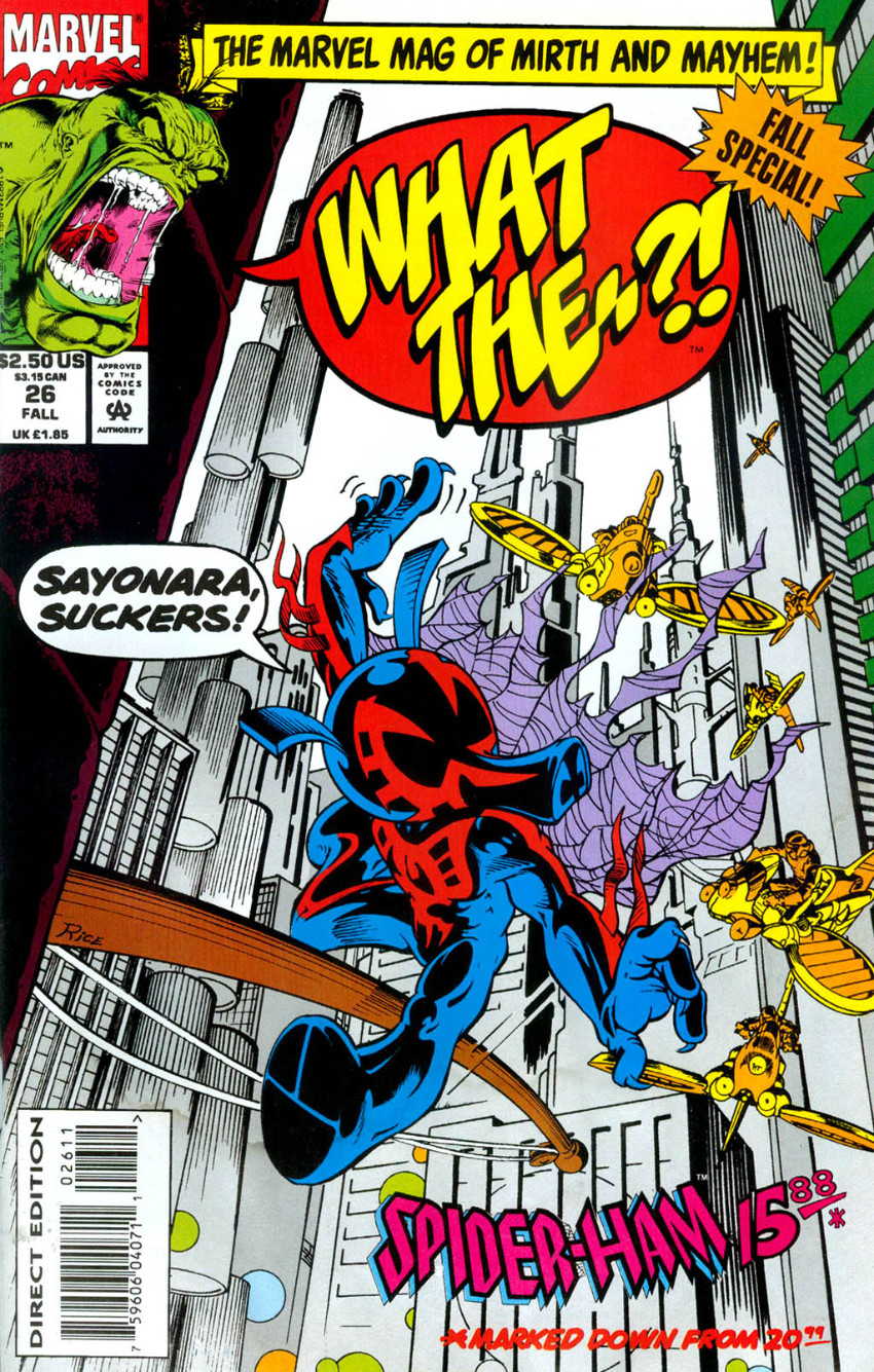 Couverture de What the..?! (Marvel comics - 1988) -26- Fall Special! Spider-Ham 1588 *Marked Down From 2099