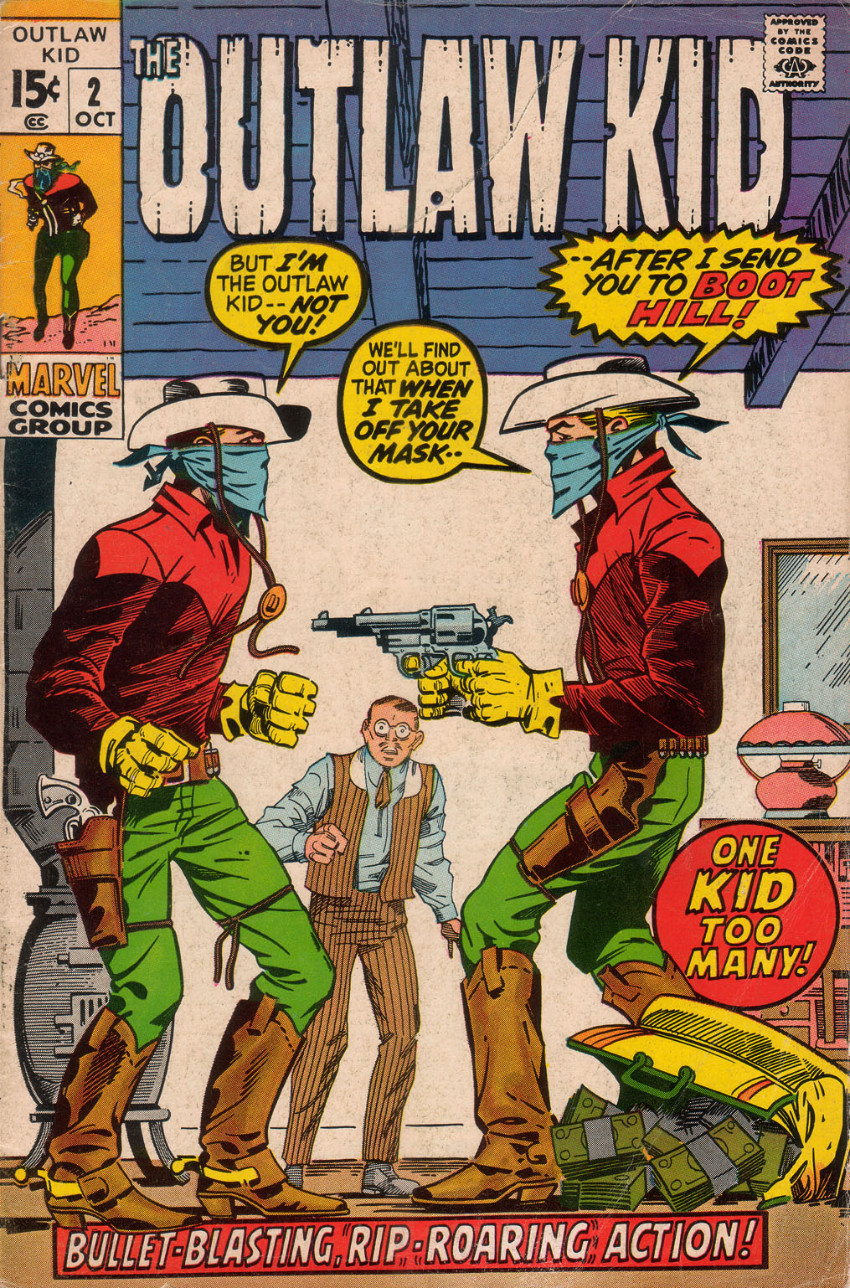 Couverture de The outlaw Kid Vol.2 (Marvel - 1970) -2- One Kid Too Many!