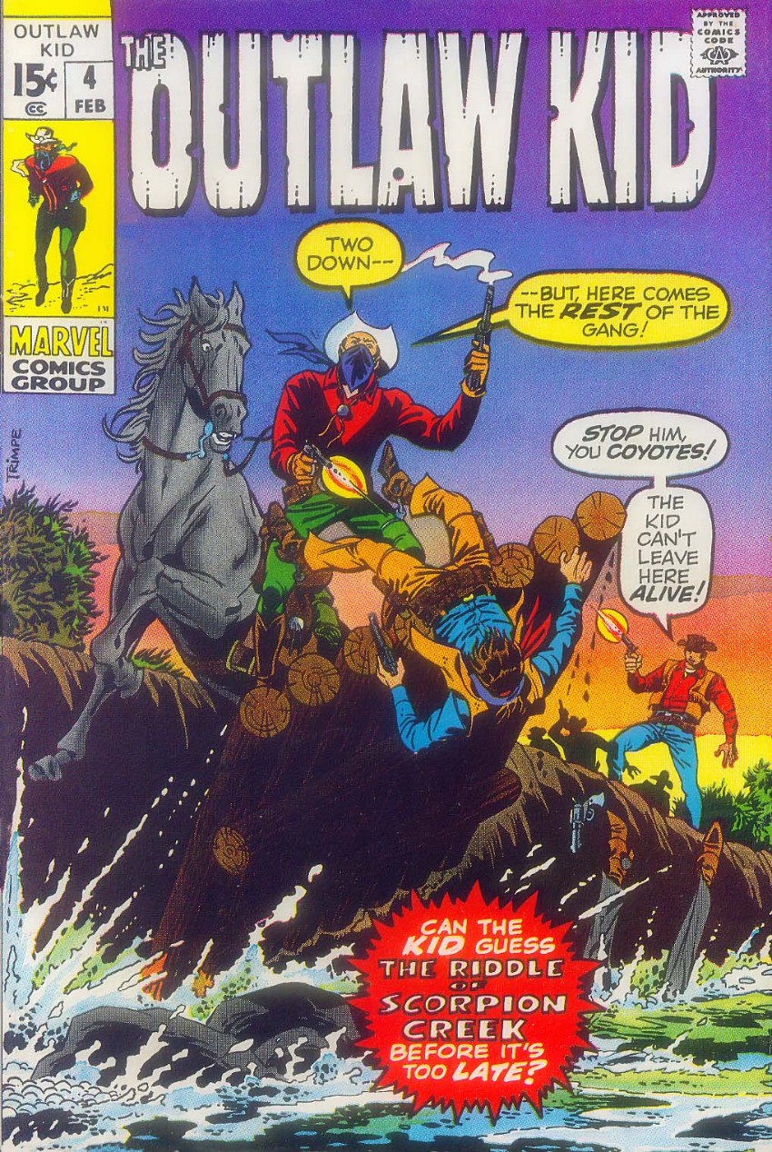 Couverture de Outlaw Kid Vol.2 (The) (Marvel - 1970) -4- The Riddle of Scorpion Creek