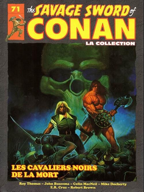 Couverture de Savage Sword of Conan (The) - La Collection (Hachette) -71- Les cavaliers noirs de la mort