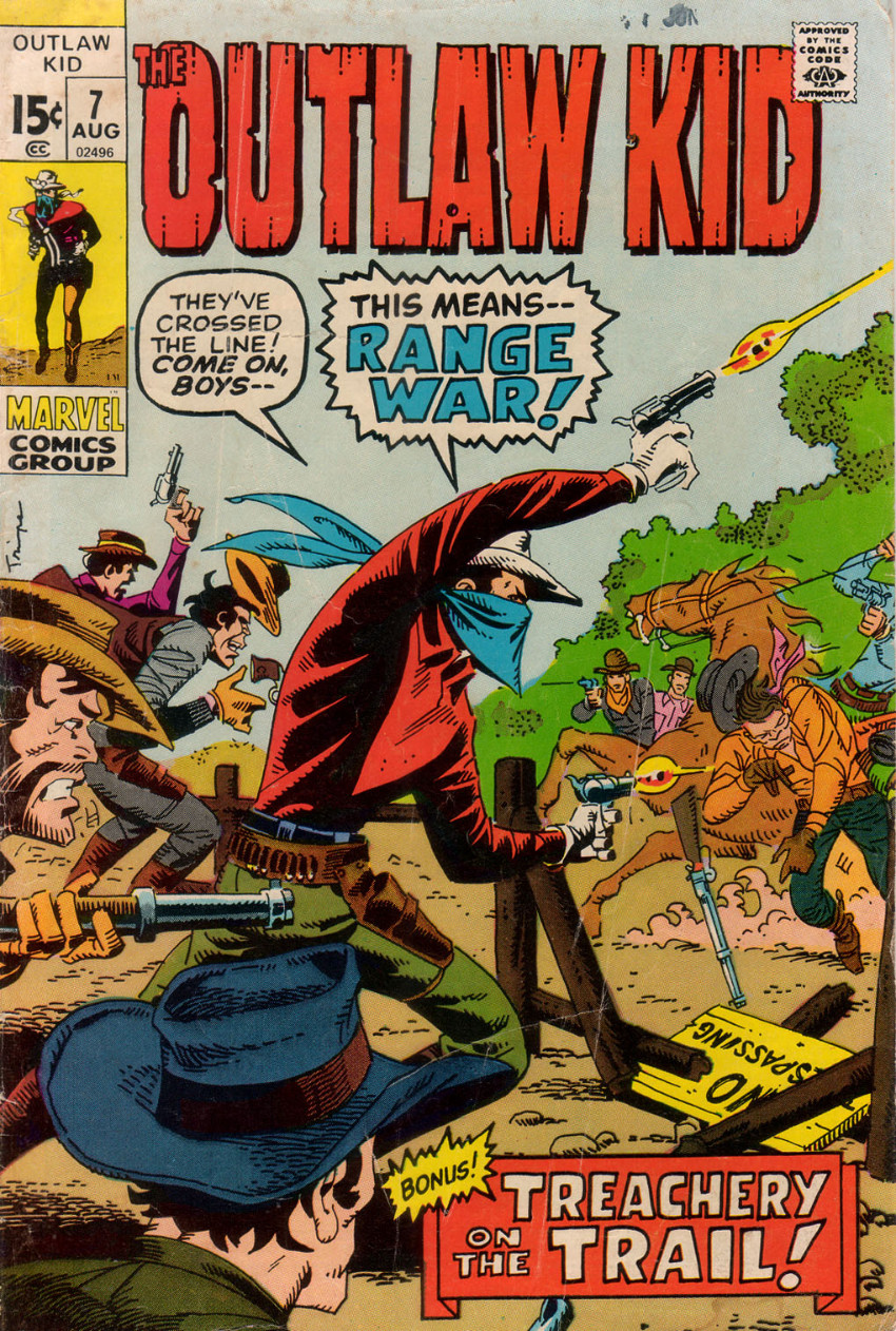 Couverture de The outlaw Kid Vol.2 (Marvel - 1970) -7- Issue # 7