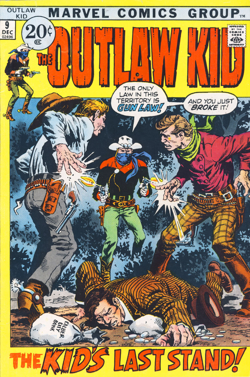 Couverture de The outlaw Kid Vol.2 (Marvel - 1970) -9- The Kid's Last Stand!