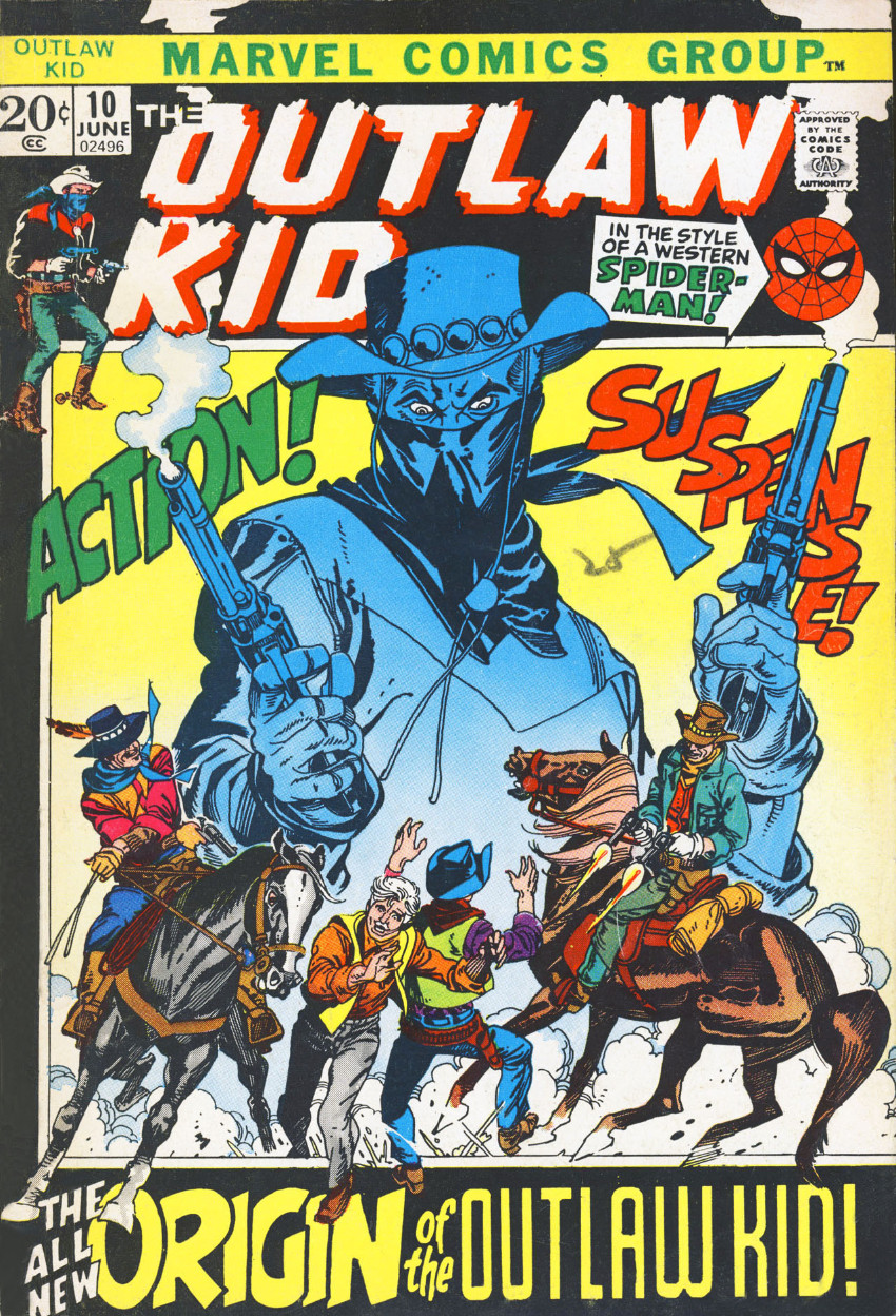 Couverture de The outlaw Kid Vol.2 (Marvel - 1970) -10- The All New Origin of the Outlaw Kid!