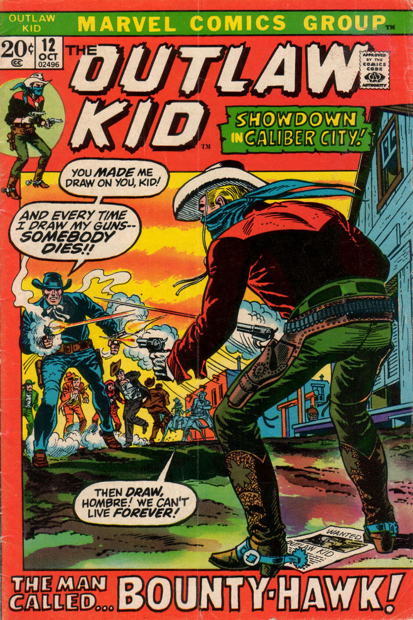 Couverture de The outlaw Kid Vol.2 (Marvel - 1970) -12- The Man Called...Bounty-Hawk!