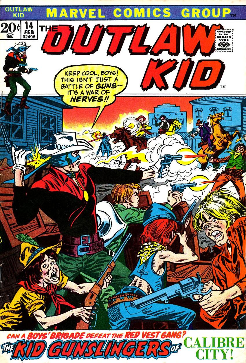 Couverture de The outlaw Kid Vol.2 (Marvel - 1970) -14- The Kid Gunslingers of Calibre City!