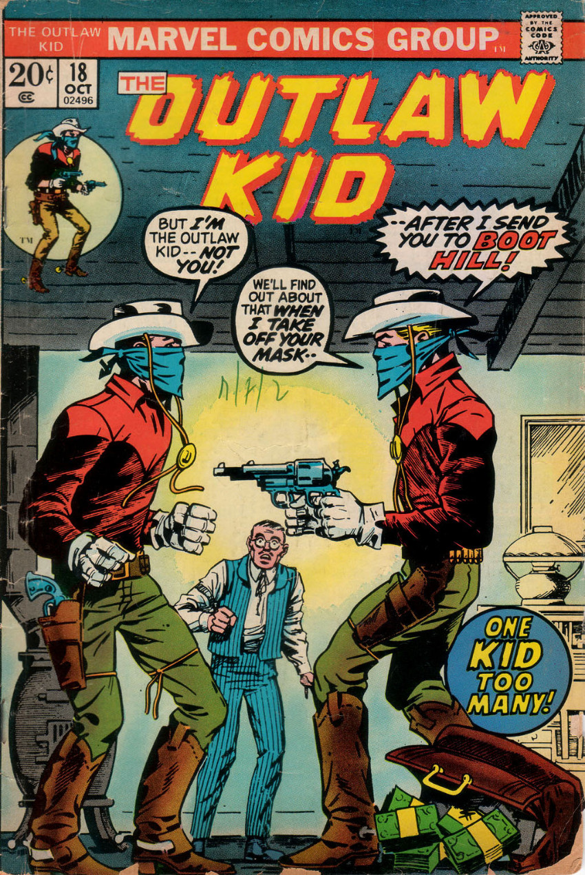 Couverture de The outlaw Kid Vol.2 (Marvel - 1970) -18- One Kid Too Many!