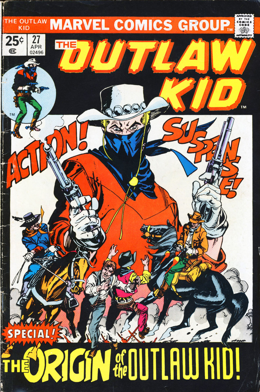 Couverture de The outlaw Kid Vol.2 (Marvel - 1970) -27- The Origin of the Outlaw Kid!