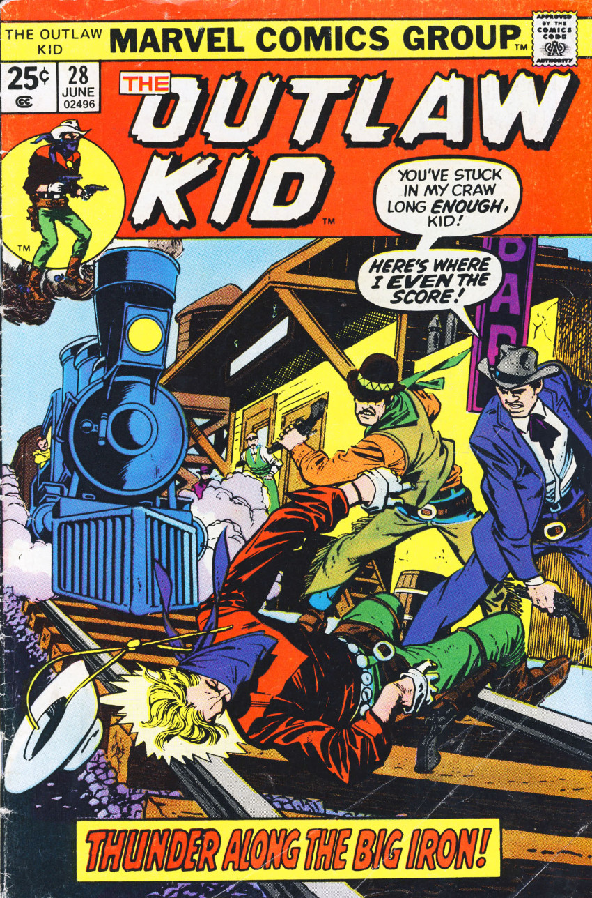 Couverture de The outlaw Kid Vol.2 (Marvel - 1970) -28- Thunder Along the Big Iron!