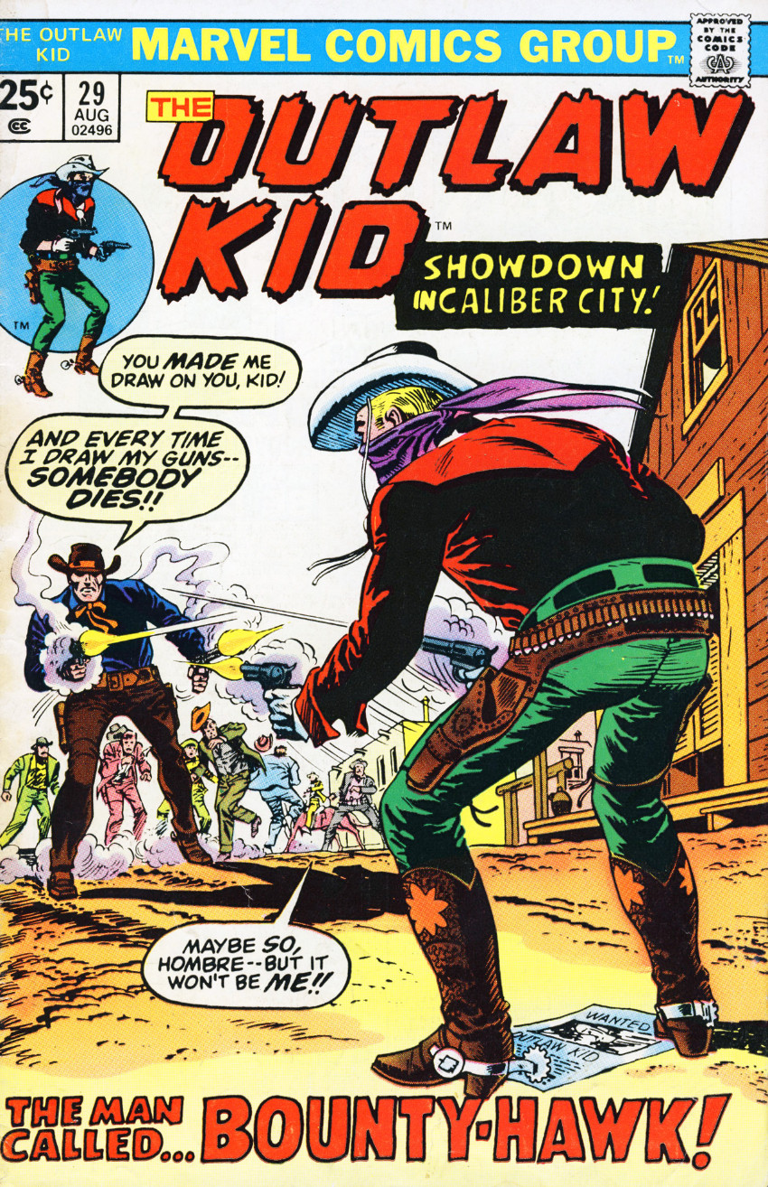 Couverture de The outlaw Kid Vol.2 (Marvel - 1970) -29- The Man Called... Bounty-Hawk!