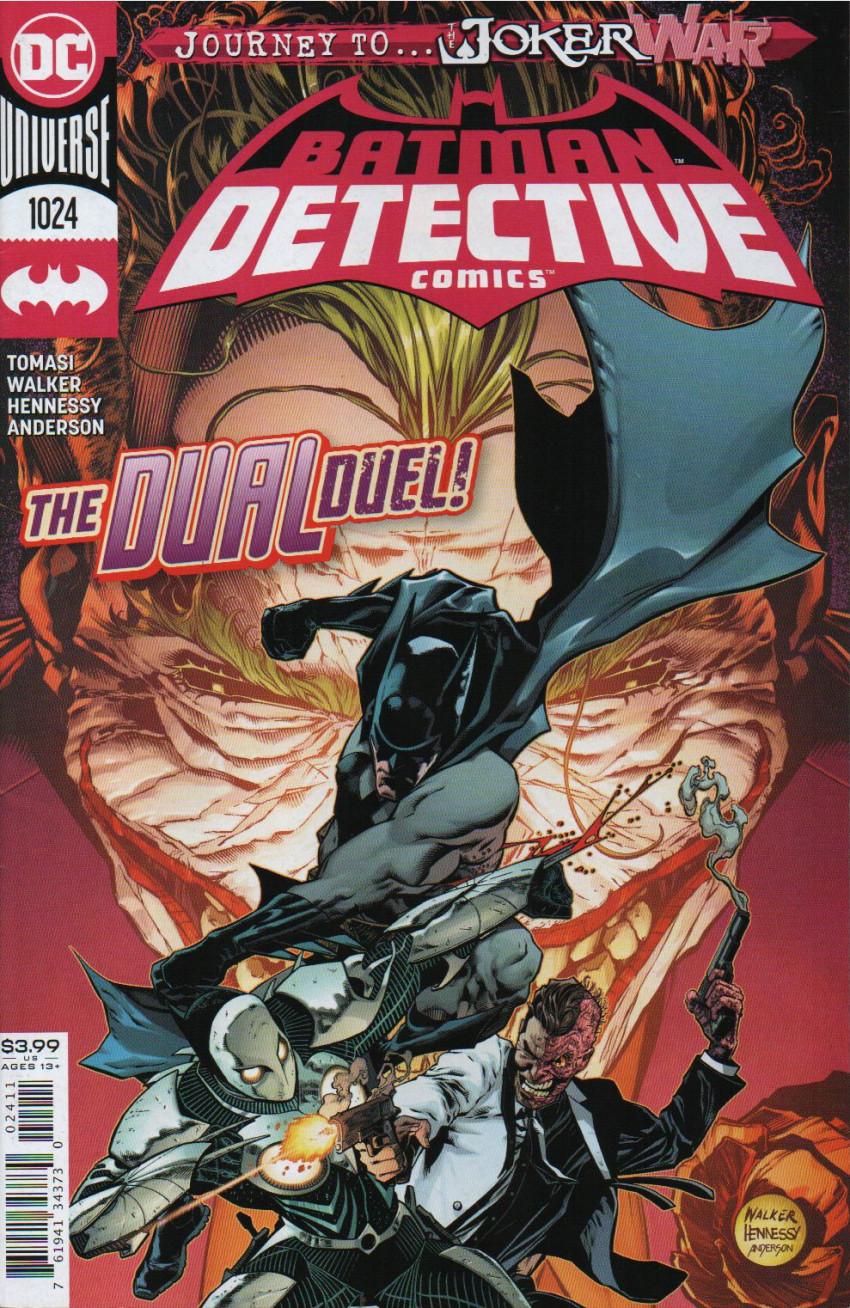 Couverture de Detective Comics (1937), Période Rebirth (2016) -1024- Fearful Symmetry