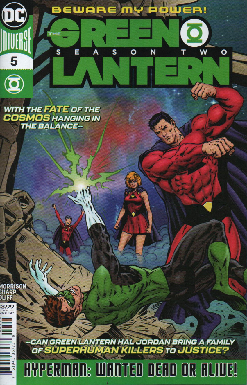 Couverture de Green Lantern - Season Two (The) (2019) -5- Wanted: Hyperman Dead or Alive!