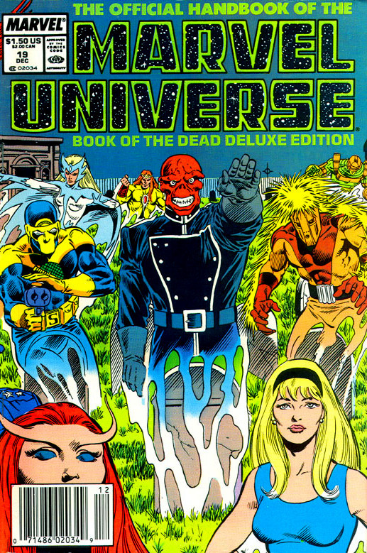 Couverture de Official handbook of the Marvel Universe Vol.2 - Deluxe Edition (1985) -19- Book of the Dead Part 4