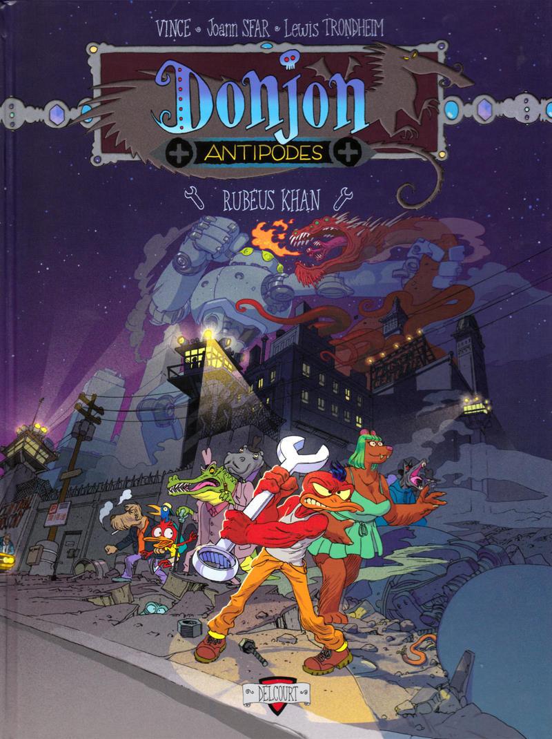 Couverture de Donjon Antipodes -10000-  Rubéus Khan
