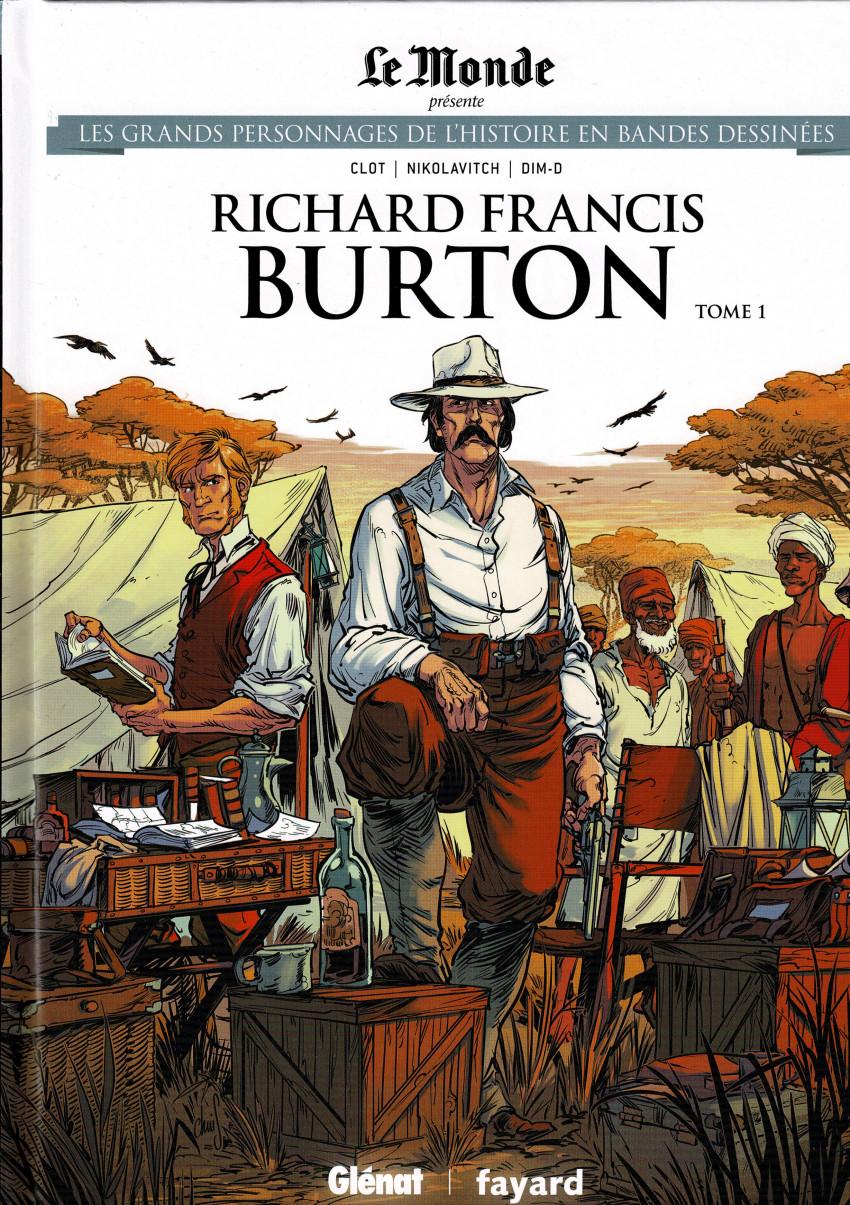 Couverture de Les grands Personnages de l'Histoire en bandes dessinées -40- Richard Francis Burton