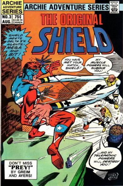 Couverture de Original Shield (The) (Archie comics - 1984) -3- Prey!
