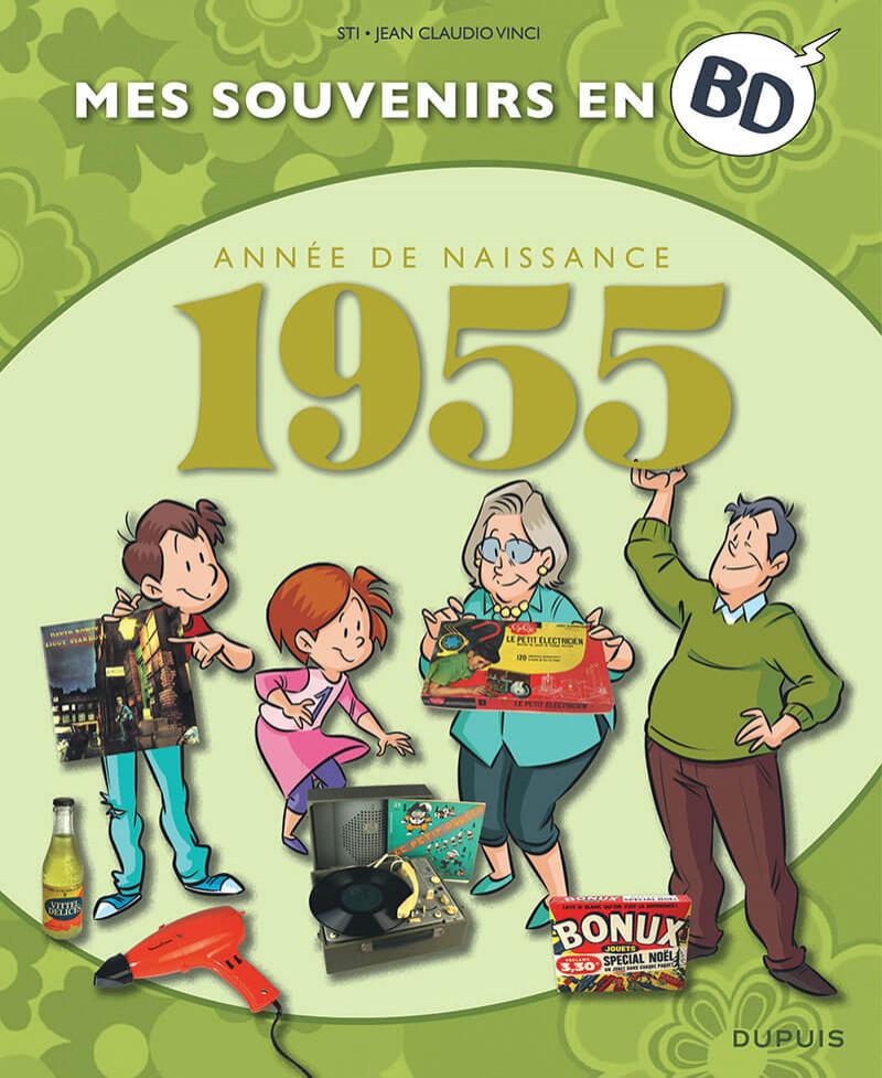 Couverture de Mes souvenirs en BD -16- 1955