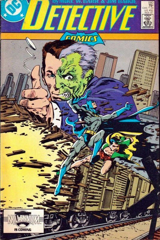 Couverture de Detective Comics (1937) -580- Double image