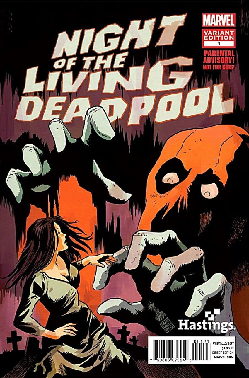 Couverture de Night of the living Deadpool (Marvel comics - 2014) -1VC- Issue # 1