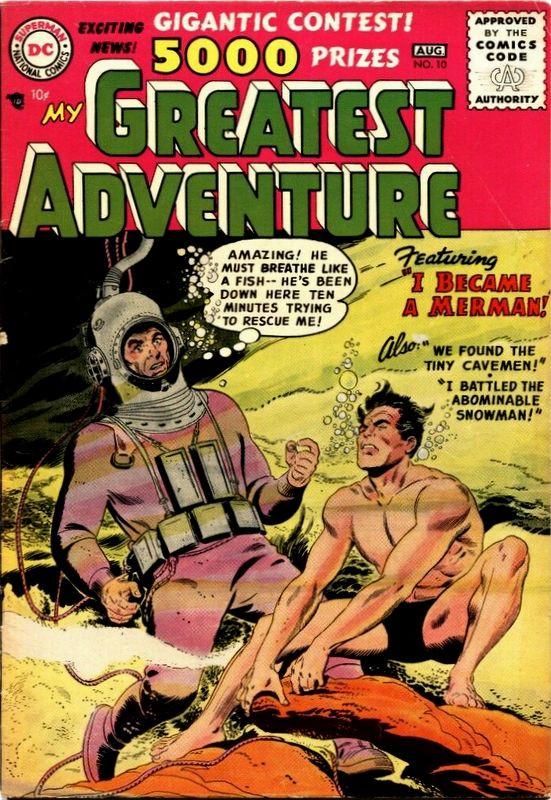 Couverture de My greatest adventure Vol.1 (DC comics - 1955) -10- I Became a Merman!