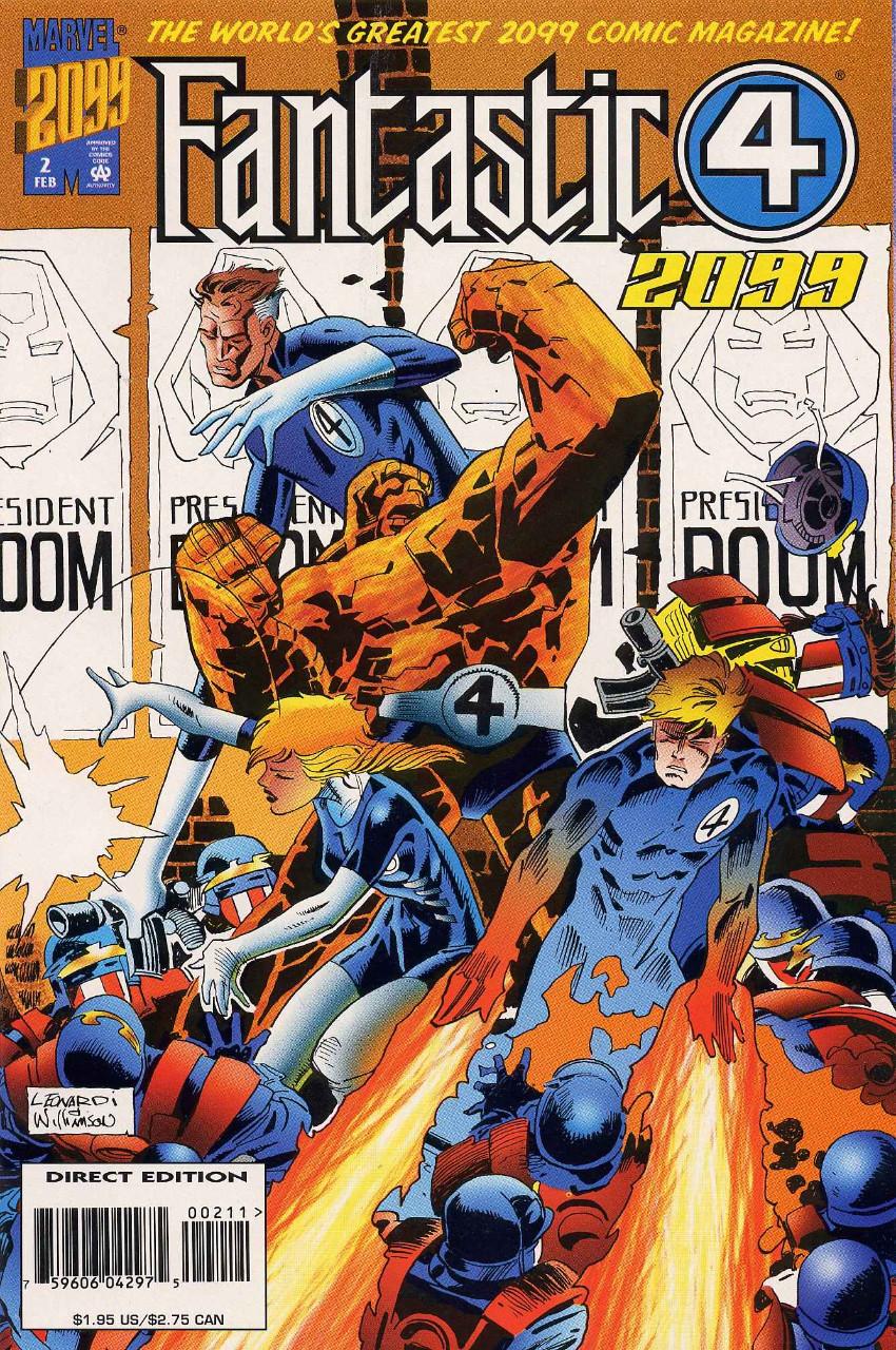 Couverture de Fantastic Four 2099 (Marvel comics - 1996) -2- Issue # 2