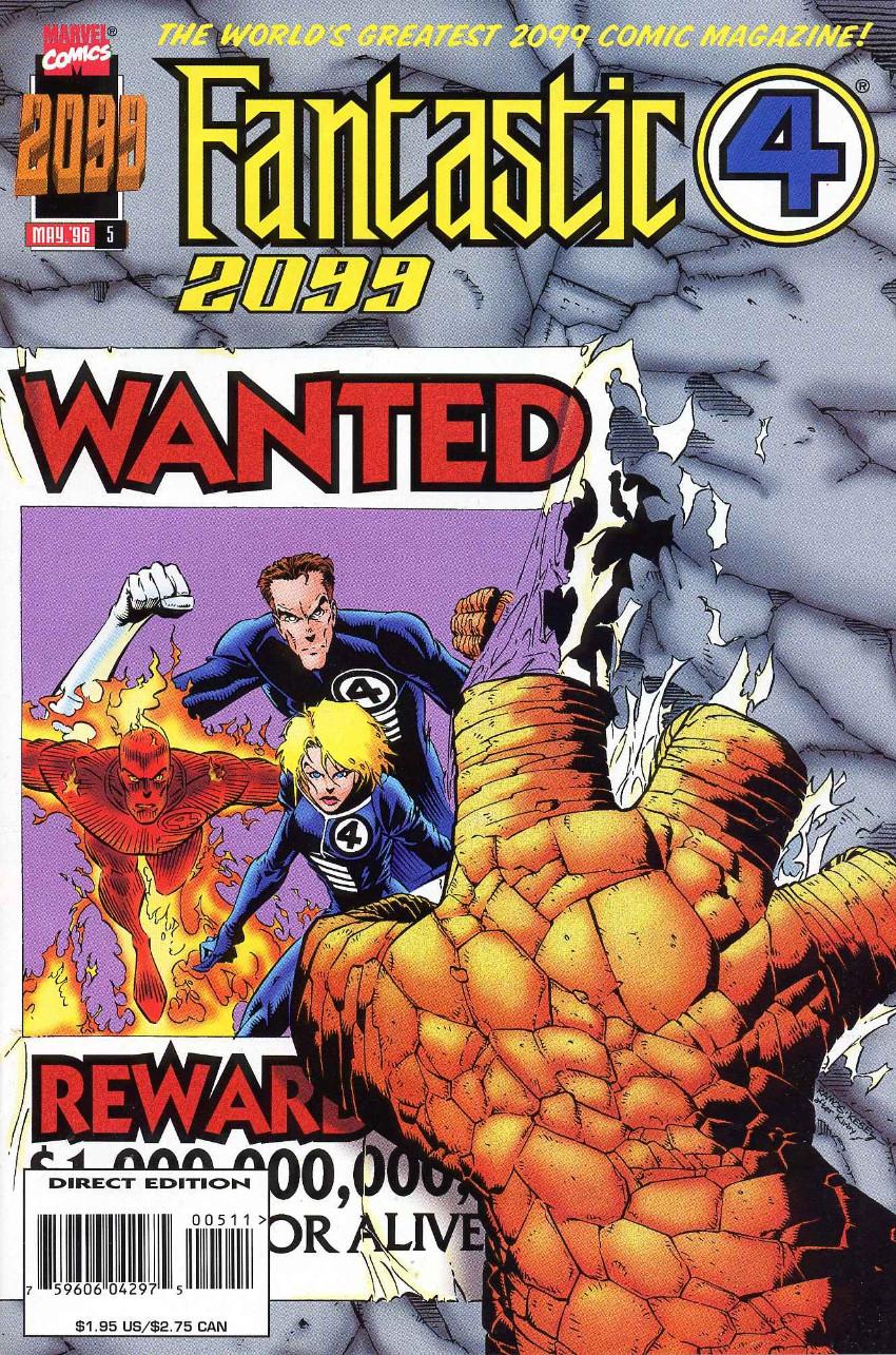 Couverture de Fantastic Four 2099 (Marvel comics - 1996) -5- Wanted