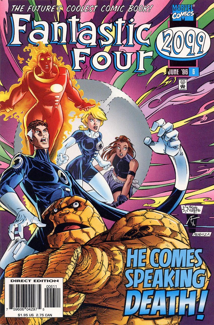 Couverture de Fantastic Four 2099 (Marvel comics - 1996) -6- He Comes Speaking Death!