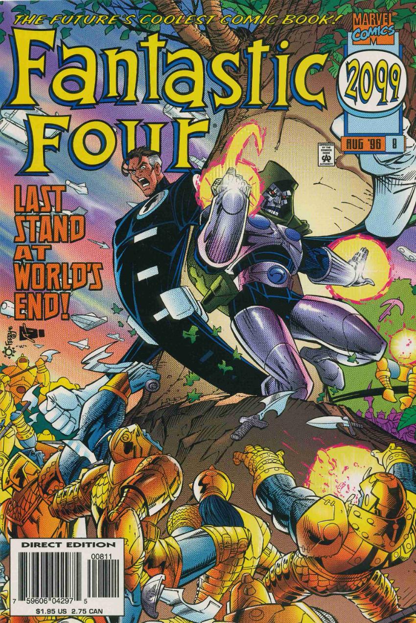 Couverture de Fantastic Four 2099 (Marvel comics - 1996) -8- Last Stand at World's End!